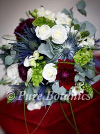 blue posy style bridal bouquet