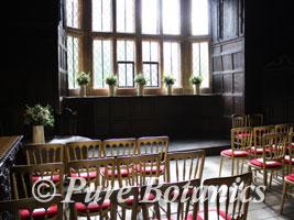 Kenilworth Castle set for a civil ceremony