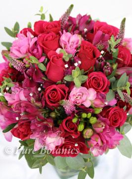 Beautiful cerise pink bridal bouquet