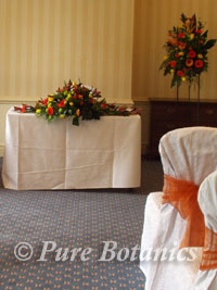 Civil ceremony decorations, for a wedding at Brandon Hall Hotel, Coventry