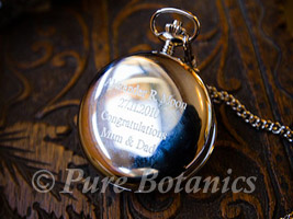 groom's engraved pocket watch