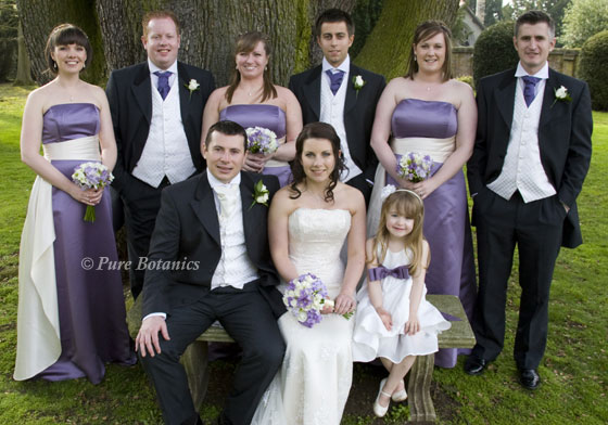 lilac purple wedding theme at Ansty hall hotel