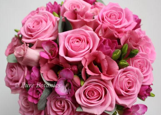 pink posy bridal bouquet