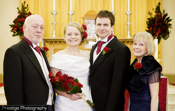 church wedding flowers for red colour theme