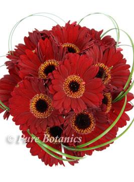 wedding bouquet made from red gerberas