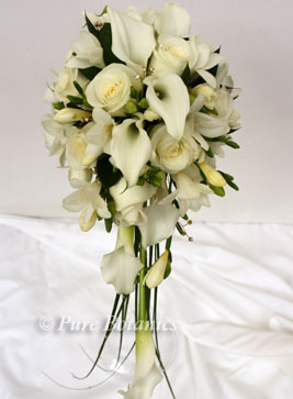 Beautiful rose and calla lily shower bouquet