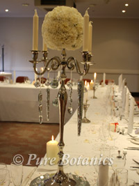 Wedding Candelabra with Candles and Flowers
