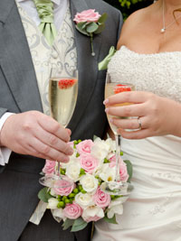 bride and groom at Ansty Hall Hotel