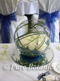 Wedding goldfish bowl decorations at Brandon Hall Hotel