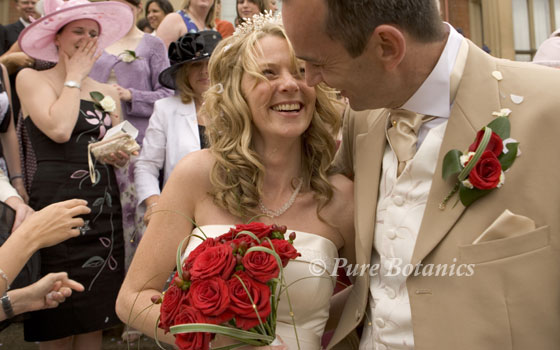 Couple that are just married at the Welcombe hotel, Warwickshire