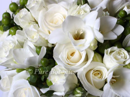 white rose bridesmaids posy bouquet