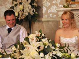 top table wedding flower decorations
