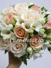 Vintage theme wedding posy bouquet