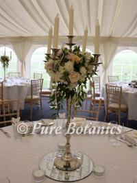 A wedding candelabra centrepiece