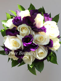 Purple And Ivory Wedding Flowers. purple lisianthus and ivory roses ...