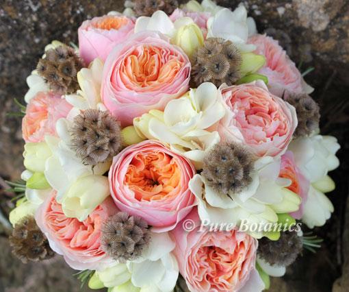 david austin inspired bridal bouquet pure botanics. Black Bedroom Furniture Sets. Home Design Ideas