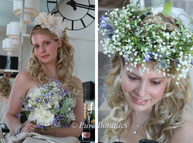 Vintage bridal flowers at the Royal Shakespeare Theatre.