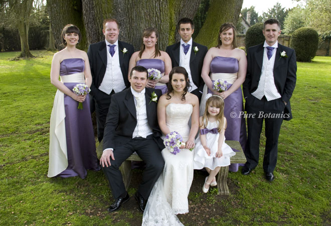 Wedding flowers in ivory and lilac at Ansty Hall.