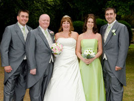 wedding party at Ansty Hall Hotel