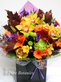 Autumn themed thank you bouquets for the Mums