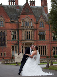 wedding couple at Wroxall Abbey