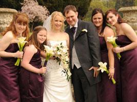 wedding party at walton hall