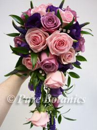 Pink rose shower bouquet
