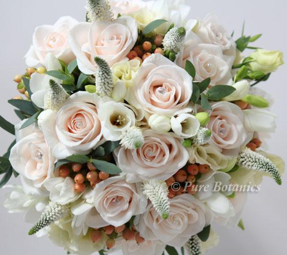 Peach Wedding Flowers Pure Botanics