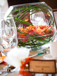Autumn themed wedding centrepieces at Walton Hall Hotel