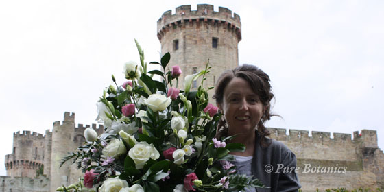Cindy the florist outside Warwick Castle