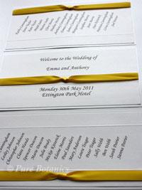 yellow wedding colour theme
