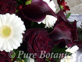 deep red rose wedding flowers
