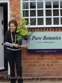 Cindy outside Pure Botanics in Little Alne.