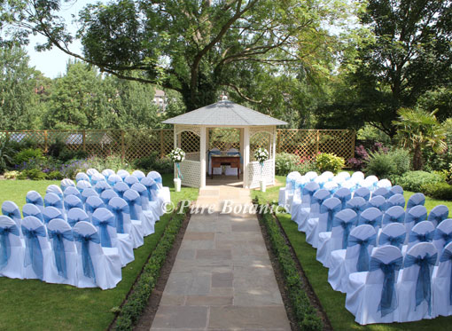 Outdoor Wedding Ceremony Warwick House Southam Pure