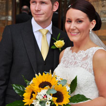 emma's sunflower wedding flowers