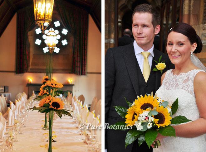 Sunflower wedding flowers Stratford-Upon_Avon.