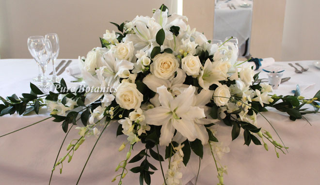 Wedding Table Flowers Pure Botanics