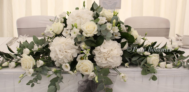 White Hydrangea Top Table Flowers