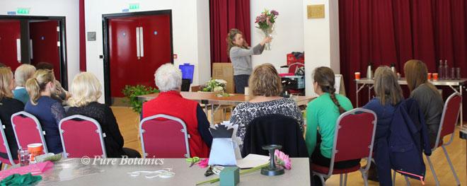 Floristry demonstration at Warwick University.
