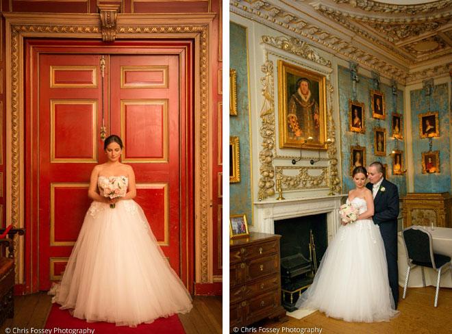 Elegant bridal bouquet at Warwick Castle.