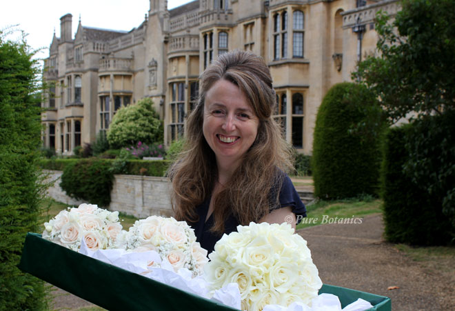 Delivering wedding flowers to Rushton Hall