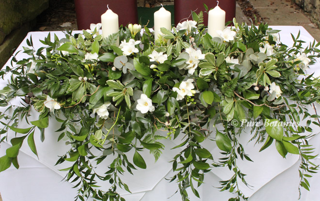natural outdoor wedding ceremony flowers Ettington Park