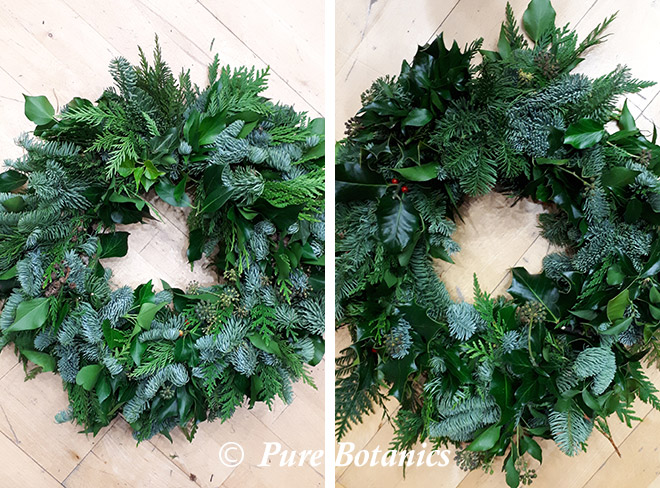 Christmas door wreaths made at a workshop