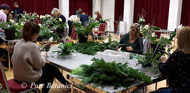 Christmas flower workshop at Warwick University
