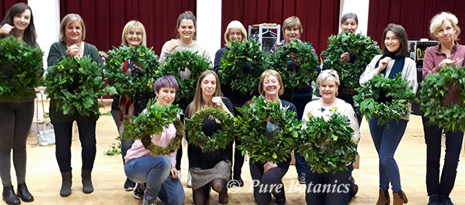 Xmas wreath making workshop at Warwick Arts Centre